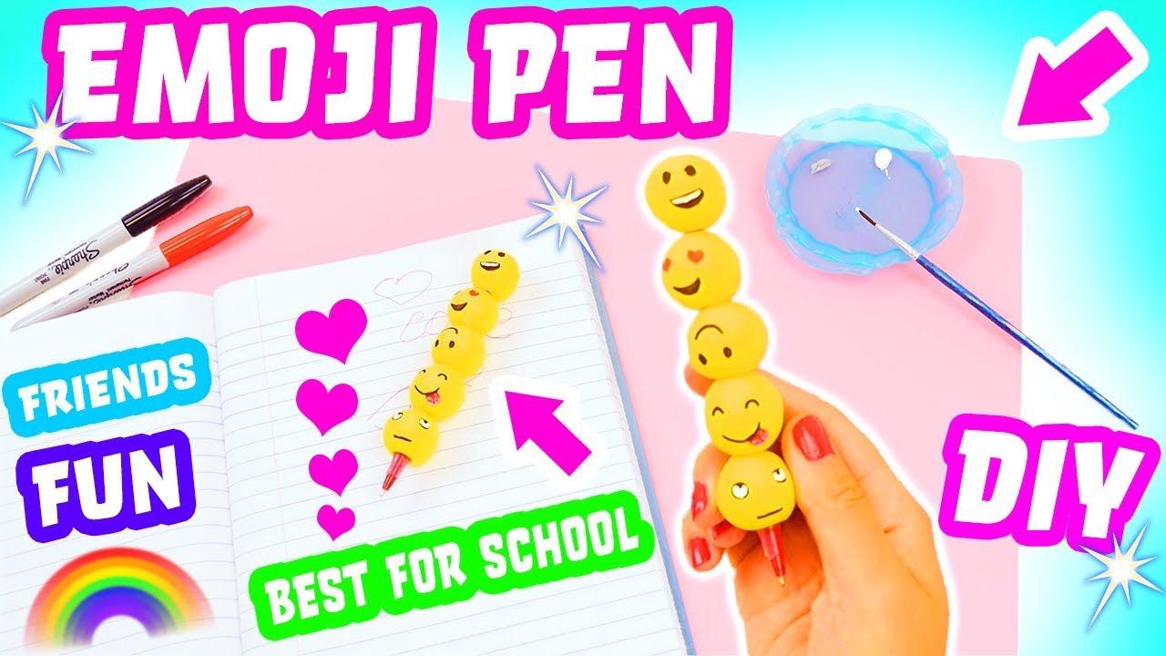 Emoji Pen Diy Crafts For Kids Back To School Diy Fun Fast Easy