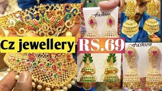 CZ jewellery e wholesale market CZ choker & CZ earrings