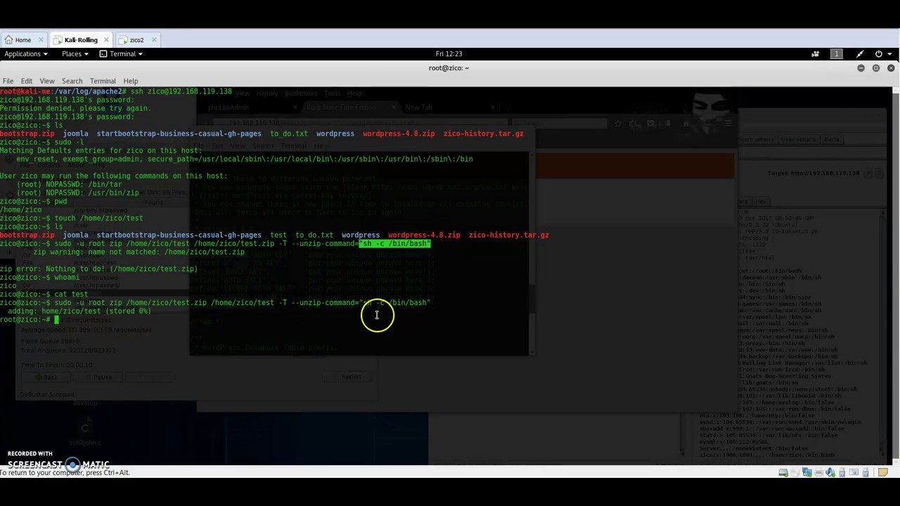 Zico2 VulnHub Walkthrough CTF (2) - Privilege escalation