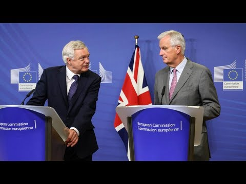 Michel Barnier and David Davis Brexit press conference