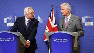 Michel Barnier and David Davis Brexit press conference