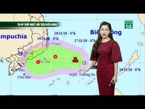 Thời Tiết 12h 17/11/2018: Áp Thấp đang Tiến Vào Các Tỉnh Từ Ninh Thuận đến Bà Rịa-Vũng Tàu | VTC14