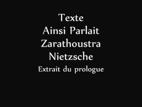 F. Nietzsche - Le dernier Homme (Zarathoustra)