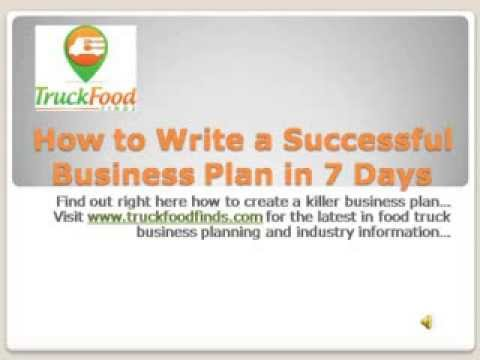 How To Successfully Write A Food Truck Business Plan in 7 Days - YouTube - food truck business plan