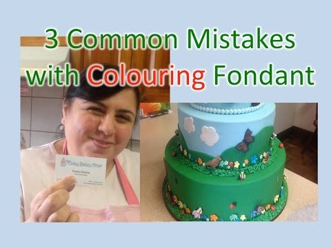 3 Common Mistakes with Cake Colouring Fondant | Cakey Bakey Art
