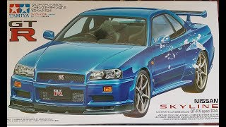 hey guys here is my completed gtr r34, i have painted it in house o...