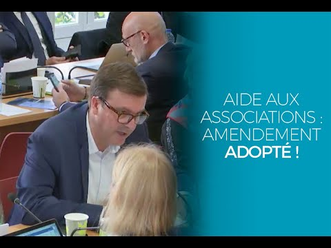 Aides aux associations : amendement adopté !