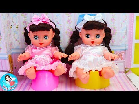 รีวิวของเล่น ตุ๊กตาฝาแฝด แกะของเล่นใหม่ล่าสุด Play Baby Doll Twins Nursery Bed Room thumbnail