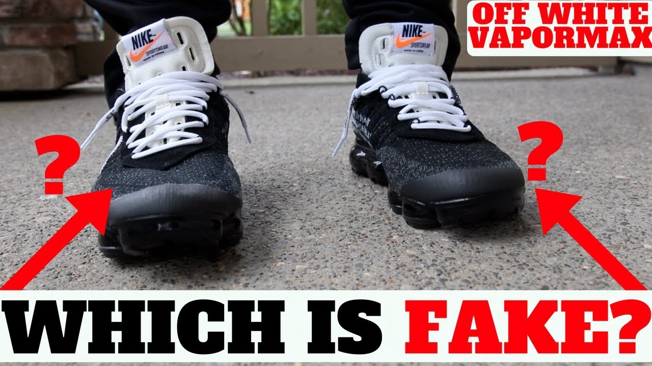 8ccc07aa0f WHICH IS FAKE? How Do Fake 'OFF-WHITE' VAPORMAX Feel On Feet? - YouTube
