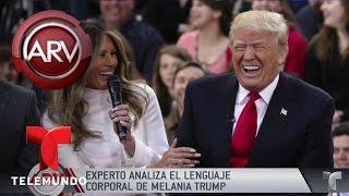 Experto analiza lenguaje corporal de Melania Trump | Al Rojo Vivo | Telemundo