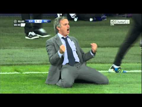 Real Madrid Vs Manchester City 3-2 - Jose Mourinho Sliding Celebration HD