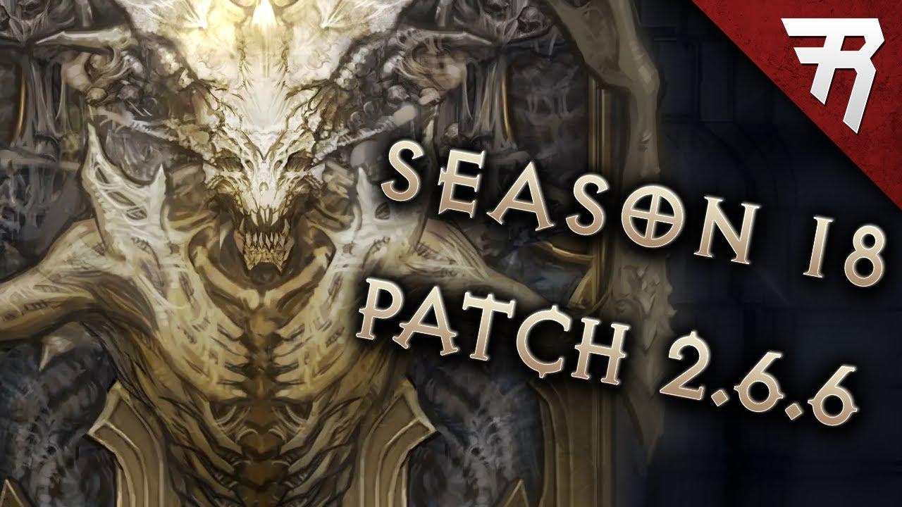 Diablo 3 Season 18 PTR Patch Notes - Patch 2 6 6