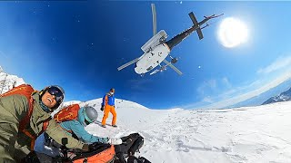 Mom is Emergency Lifted by Helicopter to the Hospital. Heli Ski Accident in Utah.