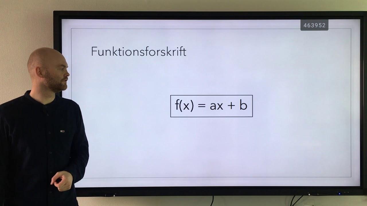 Lineære funktioner og funktionsforskrift - 10. klasse