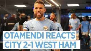 """IT WAS A SERGIO GOAL!"": OTAMENDI POST MATCH 