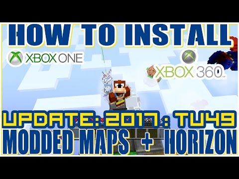 How to Download Custom Modded Minecraft Maps : Xbox 360 + One  : TU49 2017
