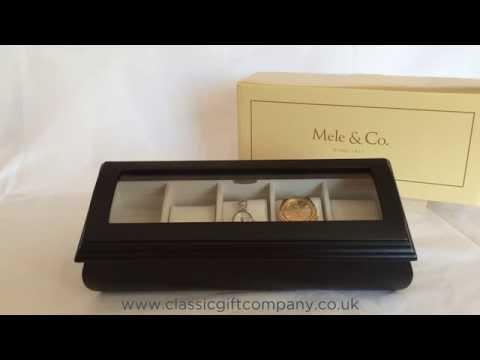 Mele & Co. 5-piece Black Watch Box Review