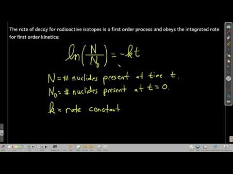 Chem102 Kinetics of Radioactive Decay