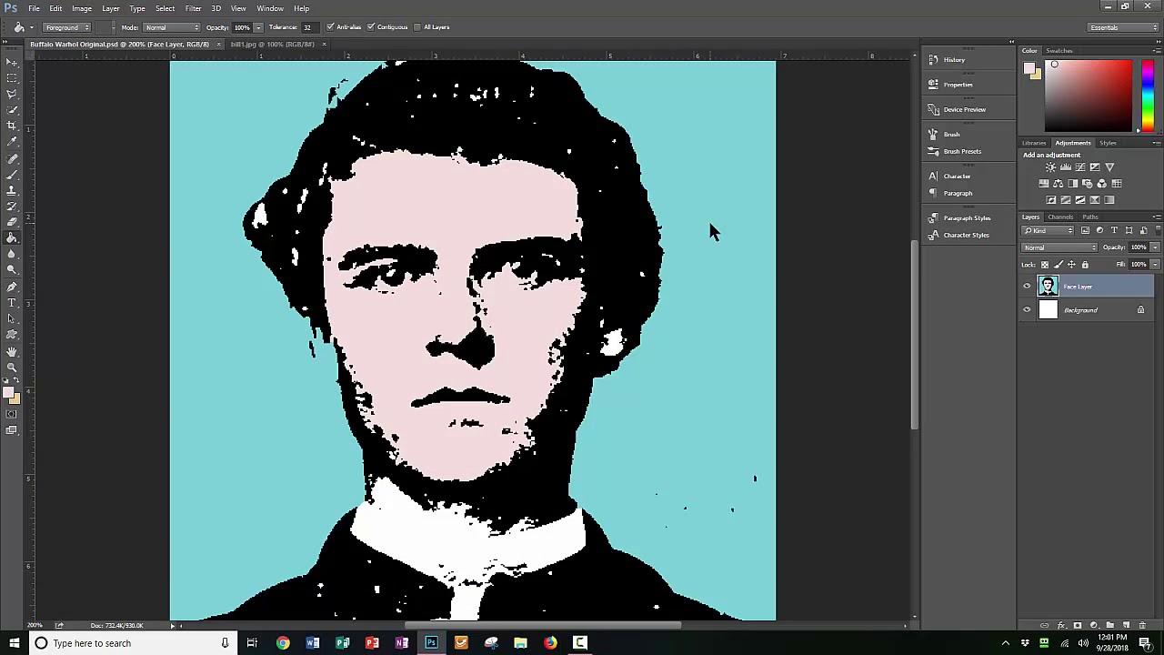 Andy Warhol Photoshop Tutorial Photoshop Method