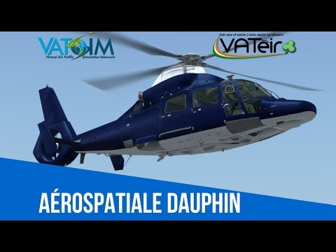 [VATSIM Flight] Newcastle(Ireland) to Cheltenham [Cera sim AS365] [P3Dv4] Live Stream 13/03/2018