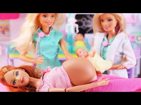 Barbie Doctor Doll Hospital Toy Ambulancen Routine Baby Doll Play Barbie Dreamhouse Adventures