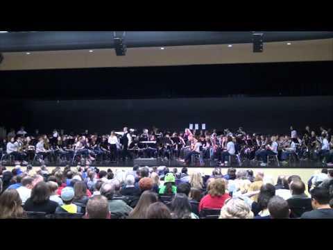 Mt Juliet Middle School and Mt Juliet High School Band 2013 Spring Concert (HD)