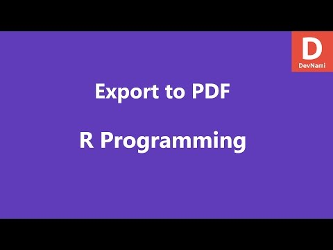Export Data to PDF Table in R - YouTube