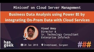 Business Data Analysis using Power BI by integrating On-Prem Data with Cloud Services