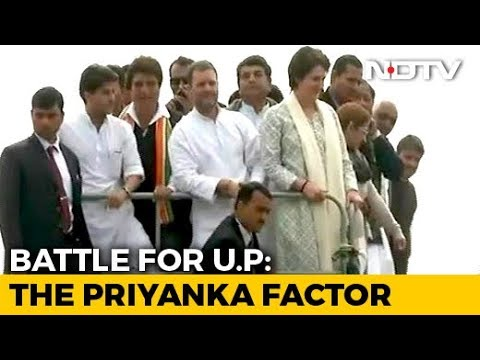 Priyanka Gandhi Vadra Begins UP Roadshow, Brother Rahul By Her Side