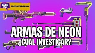 NEON WEAPONS WHICH ONE TO CHOOSE? FORTNITE SAVE THE WORLD SPANISH GUIDE