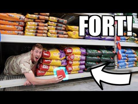 CAT FOOD FORT! *HIDDEN SPEAKER*