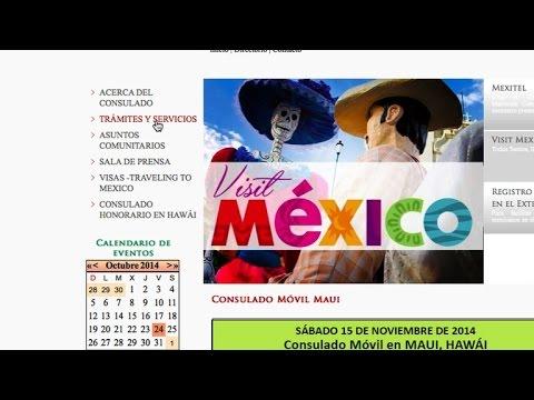 Guía para hacer una cita en el Consulado de México por internet