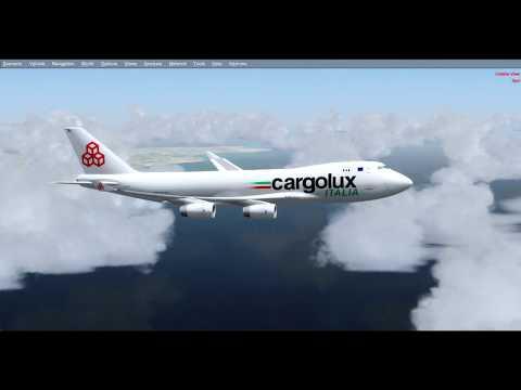 [P3D V4] Wasn't one of the best landings   Landing in Malta (LMML)    PMDG 747