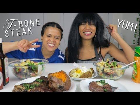 T-Bone Steak | Filet Mignon Mukbang Eating Show