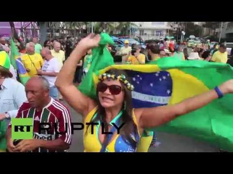 Brazil: Congressman Bolsonaro leads right-wing anti-Dilma protest in Rio