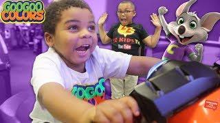 Goo Goo Gaga & ZZ Kid Turn House Into Chuckie E Cheese Fun Arcade Games!
