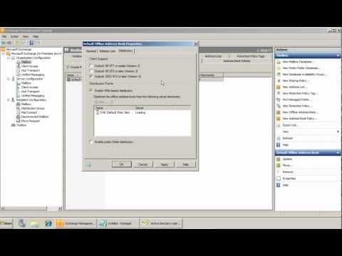 Creating And Managing Offline Address Book(OAB) In Exchange 2010SP2