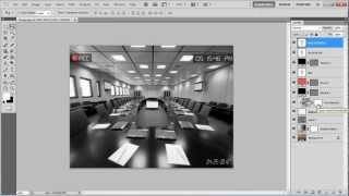 How to create a security camera effect in Photoshop