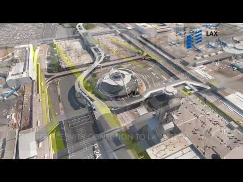 All New Los Angeles LAX People Mover Fly Over