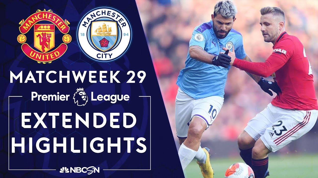 Manchester United v. Manchester City | PREMIER LEAGUE HIGHLIGHTS | 3/8/2020 | NBC Sports