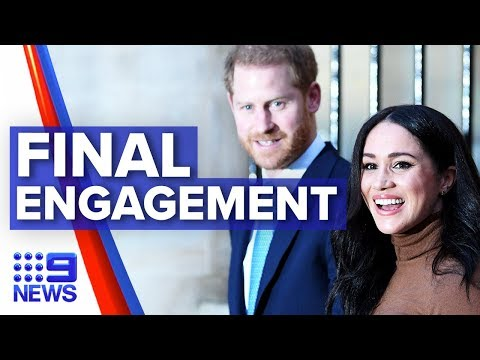 Former palace insider discusses Harry and Meghan's final royal engagement   Nine News Australia