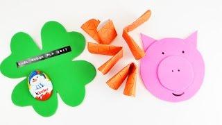 3 süße IDEEN für Silvester | Überraschungen für Freunde | Tischdeko Glückskekse -Klee & -Schwein