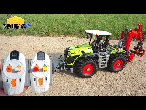 Nytt LEGO Technic 42054 RC motorized Claas Xerion 5000 Trac VC by 뿡 ND-16