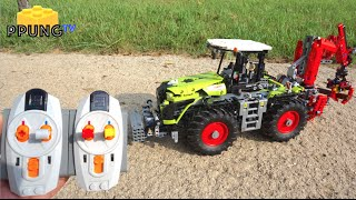 LEGO Technic 42054 RC motorized Claas Xerion 5000 Trac VC by 뿡대디