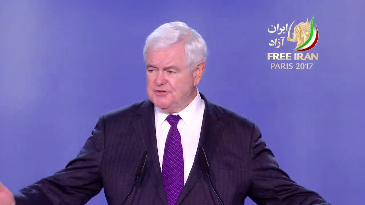 Grand Gathering of Iranians for #FreeIran 1st July 2017/ Newt Gingrich EX-US Presidential candidate