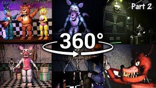 360°| Best FNAF 360 Show Compilation!! - Five Nights at Freddy's [SFM] (VR Compatible) Part 2