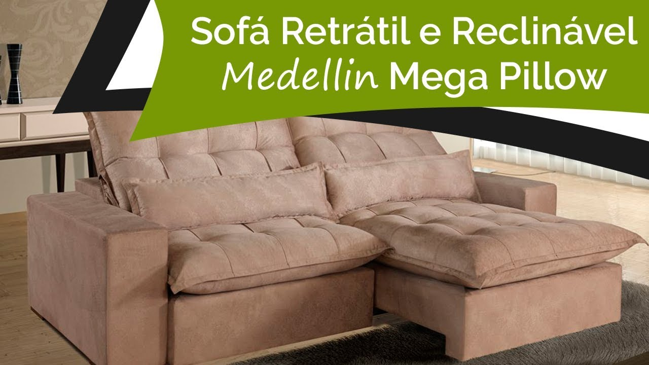 sof retr til e reclin vel medellin mega pillow o maior do mercado super macio p de sof. Black Bedroom Furniture Sets. Home Design Ideas