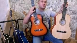 Обзор детской классической гитары 1/2 Fabio FB 3410 SB