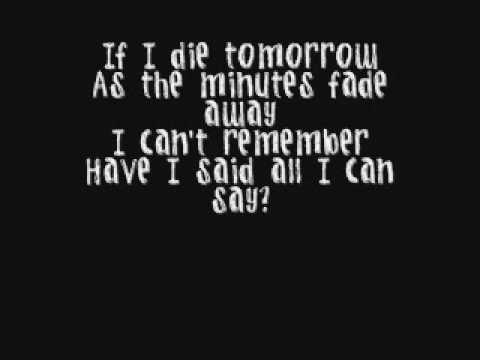 If I Die Tomorrow - Motley Crue *Lyrics