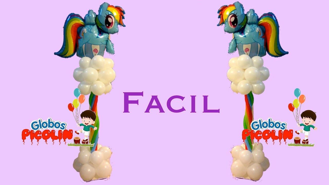 Columna de rainbow dash con globos # 25 - YouTube
